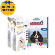 Bravecto Chew & Milbemax Allwormer Bundle For Dogs