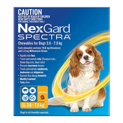 Nexgard Spectra for Small Dog (3.6 - 7 Kg) Yellow - Protect Against Fl