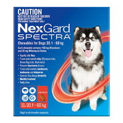 Nexgard Spectra for Dog (30.1 - 60 Kg) Red - Protect Against Fleas & T