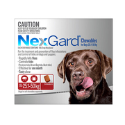 Nexgard Chewables For Dogs (25 - 50 Kg) Red - Flea and Tick Treatment