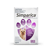 Simparica Chewables for Very Small Dogs 2.5 - 5Kg
