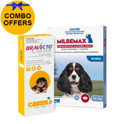 Buy Bravecto Spot On + Milbemax Combo For Dogs at lowest price