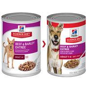 Hills Science Diet Adult Beef & Barley Entrée Canned Dog Food
