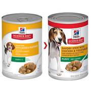 Hills Science Diet Puppy Savory Chicken & Vegetable Canned Dog food