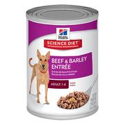 Hills Science Diet Adult Beef & Barley Entrée Canned Dog Food 370