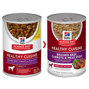 HILL'S SCIENCE DIET ADULT CUISINE BEEF,  CARROTS & PEAS STEW dog food