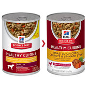 HILL'S SCIENCE DIET ADULT CUISINE CHICKEN CARROT STEW CANNED DOG FOOD