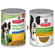 HILL'S SCIENCE DIET ADULT 7+ YOUTHFUL VITALITY SENIOR CANNED DOG FOOD