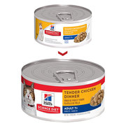 HILL'S SCIENCE ADULT 7  TENDER CHICKEN DINNER SENIOR CANNED CAT Food