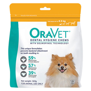 Oravet Dental Chews for X-Small Dogs (Up to 4.5 kg)